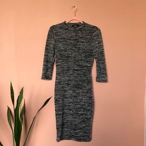 Lulus grey casual bodycon dress